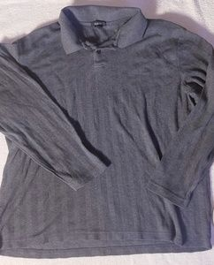 en's Long-Sleeve Polo Shirt by Alfani (Mens Large)